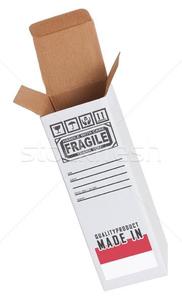 Foto stock: Exportar · produto · Mônaco · papel · caixa