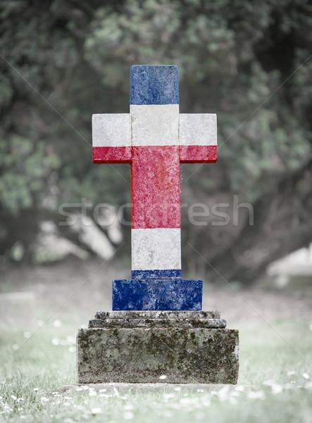 Lápida sepulcral cementerio Costa Rica edad capeado cruz Foto stock © michaklootwijk