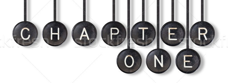 Stock photo: Typewriter buttons, isolated - Chapter one