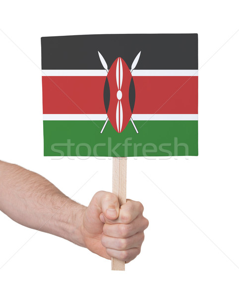 Main faible carte pavillon Kenya Photo stock © michaklootwijk
