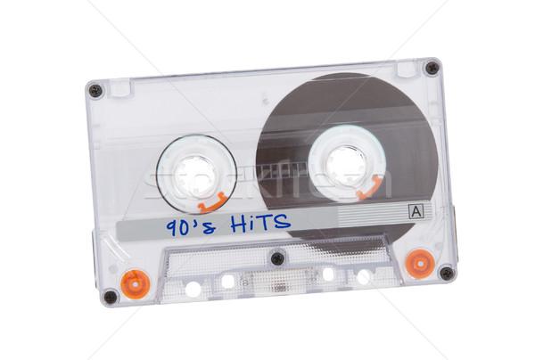 Klasszikus audio kazetta szalag izolált fehér Stock fotó © michaklootwijk