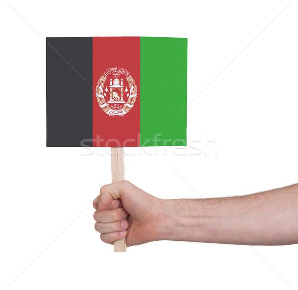 Hand halten wenig Karte Flagge Afghanistan Stock foto © michaklootwijk