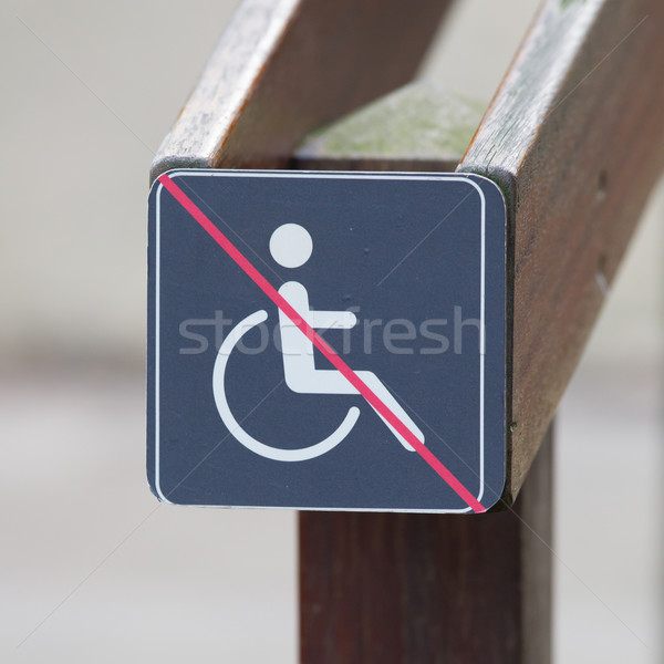 Disabled sign, handicapped person icon Stock photo © michaklootwijk