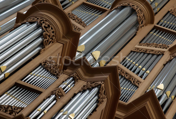 Old large pipe organ Stock photo © michaklootwijk