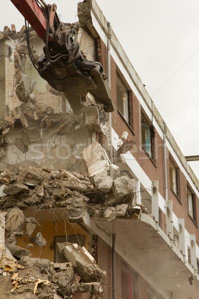 állvány fal otthon labda vihar beton Stock fotó © michaklootwijk