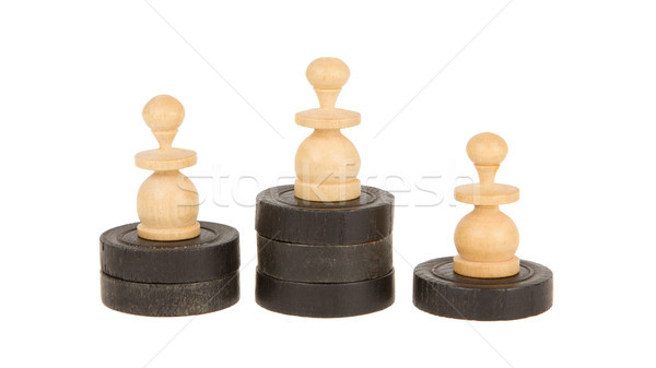 Pawns on checkers Stock photo © michaklootwijk