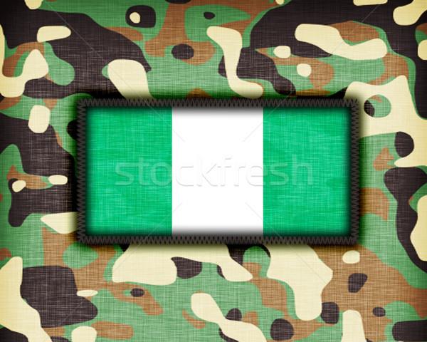 Uniforme Nigéria bandeira textura abstrato Foto stock © michaklootwijk