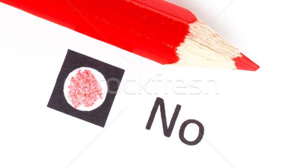 Czerwony farbują tak nie głosowanie Zdjęcia stock © michaklootwijk
