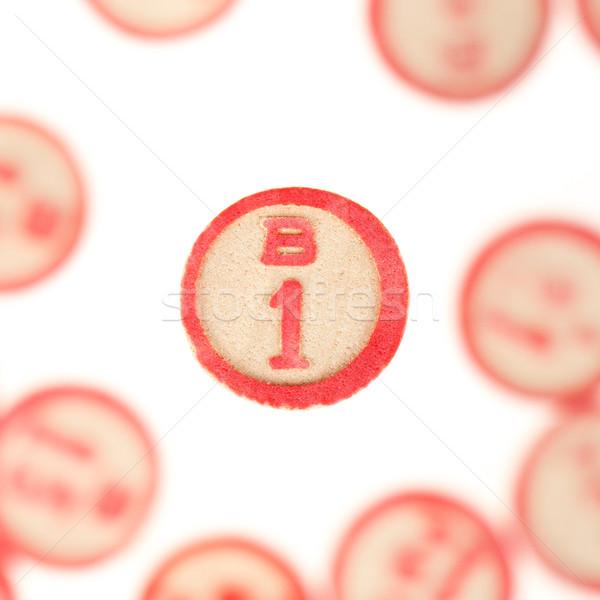 Stockfoto: Houten · nummers · gebruikt · bingo · toevallig · keuze