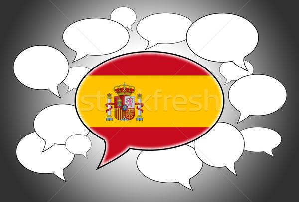 Foto stock: Comunicação · nuvem · discurso · voz · Espanha · abstrato · assinar