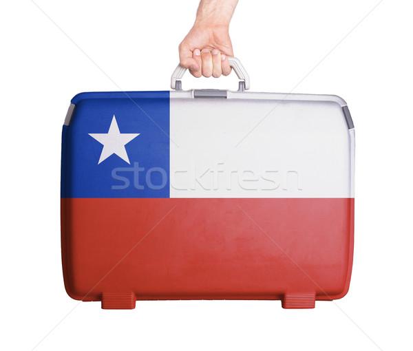 ストックフォト: 中古 · プラスチック · スーツケース · 印刷 · フラグ