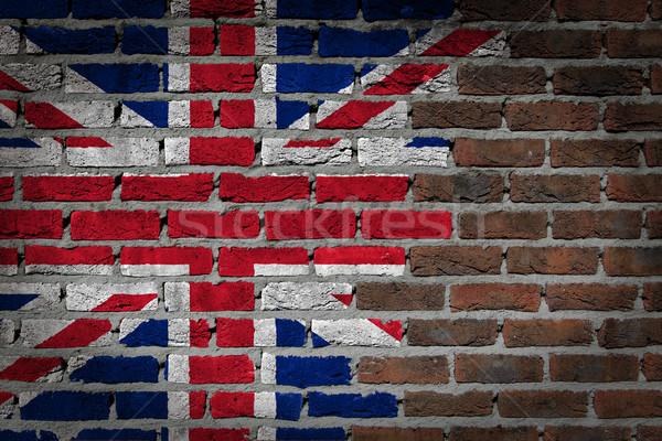 Oscuro pared de ladrillo Reino Unido textura bandera pintado Foto stock © michaklootwijk