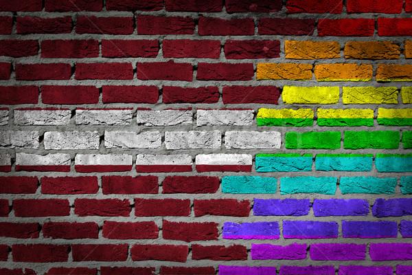 Donkere muur rechten Letland textuur vlag Stockfoto © michaklootwijk