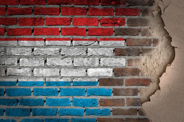 Donkere muur gips Luxemburg textuur vlag Stockfoto © michaklootwijk