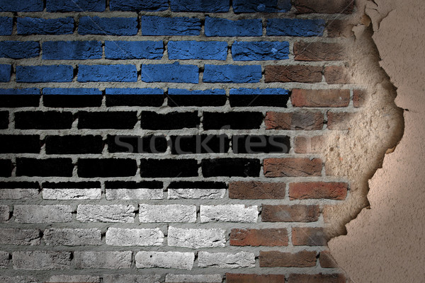Dark brick wall with plaster - Estonia Stock photo © michaklootwijk