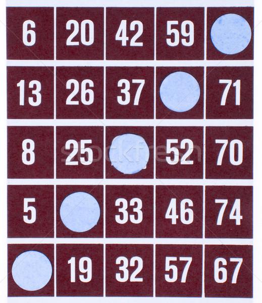 Red bingo card isolated Stock photo © michaklootwijk