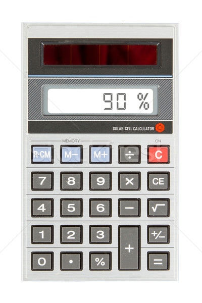 Eski hesap makinesi yüzde yüzde dijital Stok fotoğraf © michaklootwijk