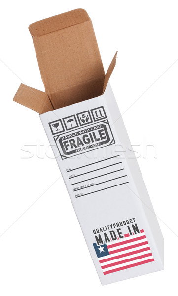 Foto stock: Exportar · produto · Libéria · papel · caixa