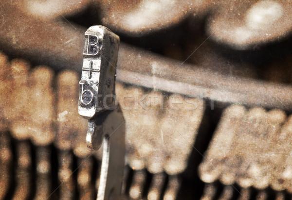 Hamer oude schrijfmachine warm filteren Stockfoto © michaklootwijk