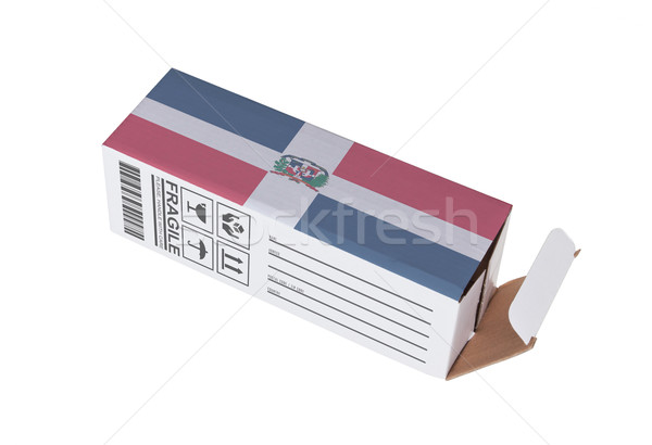 Export termék Dominikai Köztársaság kinyitott papír doboz Stock fotó © michaklootwijk