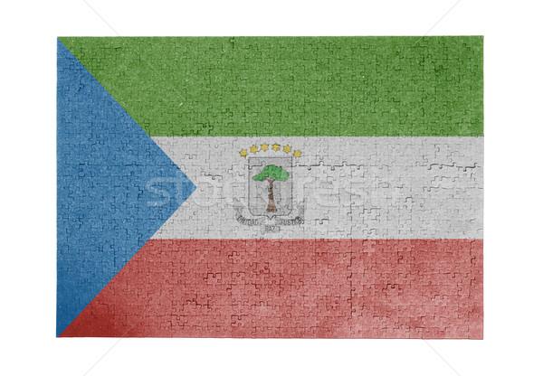 Grande 1000 peças Guiné Equatorial bandeira Foto stock © michaklootwijk