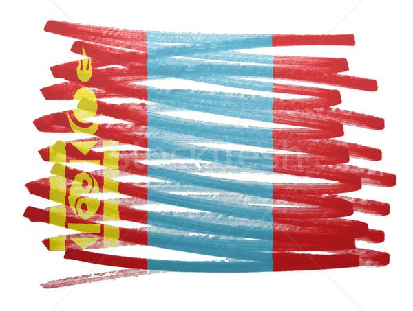 Zászló illusztráció Mongólia toll üzlet festék Stock fotó © michaklootwijk