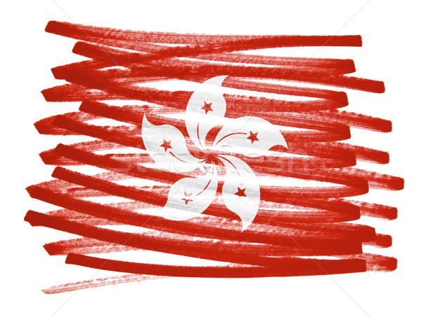 флаг иллюстрация Гонконг пер бизнеса краской Сток-фото © michaklootwijk