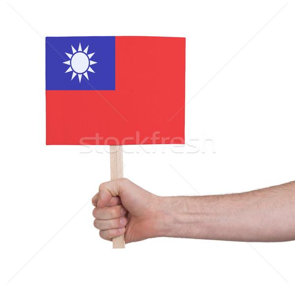 El küçük kart bayrak Tayvan Stok fotoğraf © michaklootwijk
