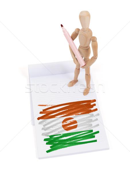 манекен рисунок Нигер флаг бумаги Сток-фото © michaklootwijk