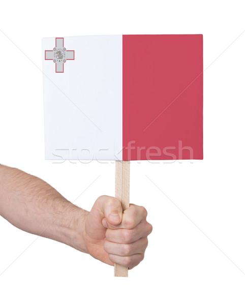 Mano piccolo carta bandiera Malta Foto d'archivio © michaklootwijk