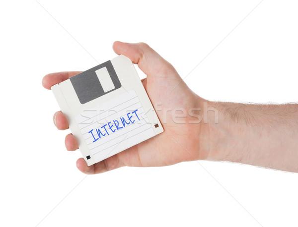 Lemez adattárolás támogatás izolált fehér iroda Stock fotó © michaklootwijk
