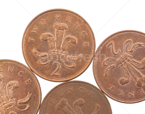 Two Pence coins isolated  Stock photo © michaklootwijk