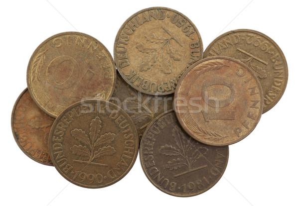 Германия десять монетами избирательный подход белый фон Сток-фото © michaklootwijk