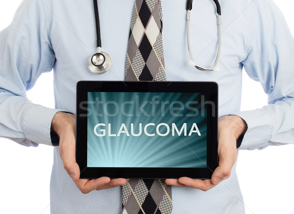 Arts tablet glaucoma geïsoleerd witte Stockfoto © michaklootwijk