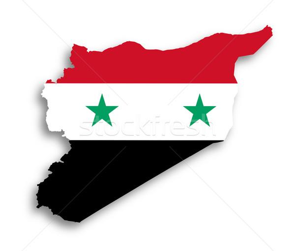 Syrië kaart vlag binnenkant geïsoleerd abstract Stockfoto © michaklootwijk