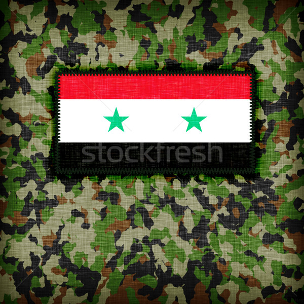 Amy camouflage uniform, Syria Stock photo © michaklootwijk