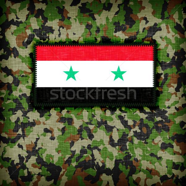 Uniforme Siria bandiera texture abstract Foto d'archivio © michaklootwijk