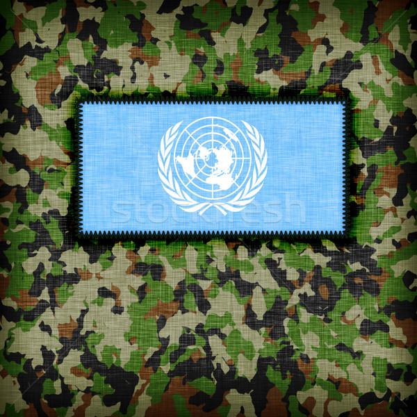ユニフォーム 国連 フラグ テクスチャ 抽象的な ストックフォト © michaklootwijk