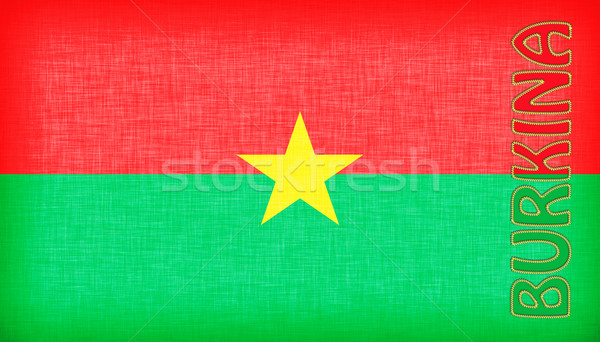 Flag of Burkina Faso stitched with letters Stock photo © michaklootwijk