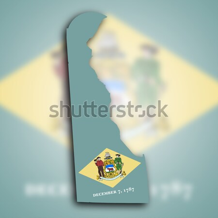 Kaart Delaware achtergrond vlag grond USA Stockfoto © michaklootwijk