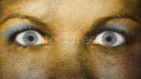 Mujeres ojo primer plano ojos amplio abierto Foto stock © michaklootwijk