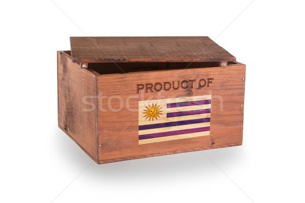 Stock fotó: Fából · készült · láda · izolált · fehér · termék · Uruguay