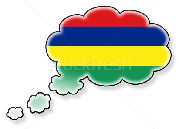 Bayrak bulut yalıtılmış beyaz Mauritius sanat Stok fotoğraf © michaklootwijk