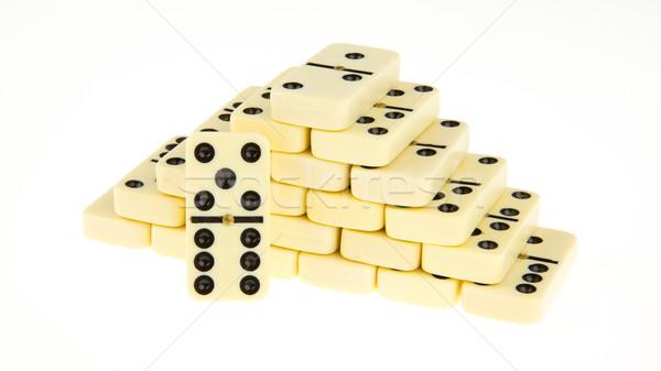 Stacks of dominoes Stock photo © michaklootwijk