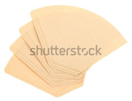 Quatre café isolé blanche papier objet Photo stock © michaklootwijk