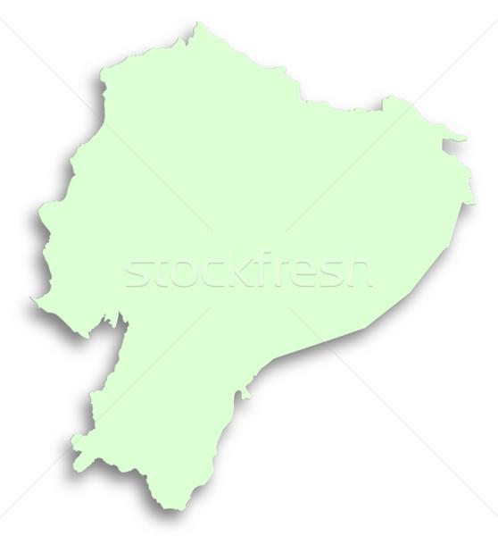 地図 エクアドル 緑 孤立した 白 テクスチャ ストックフォト © michaklootwijk