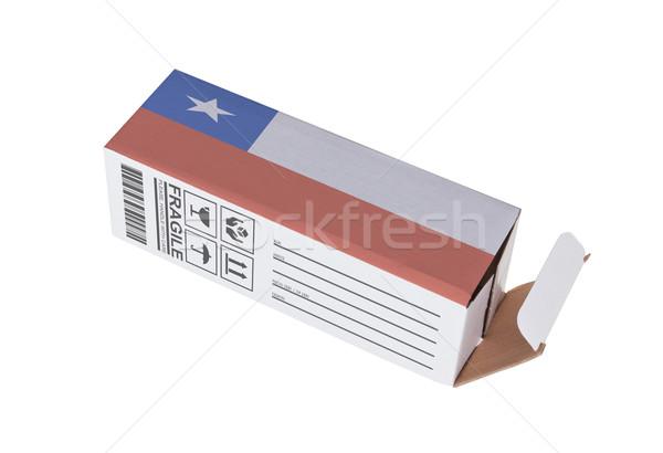 Export termék Chile kinyitott papír doboz Stock fotó © michaklootwijk