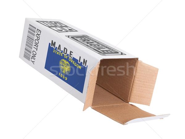 Ihracat ürün Oregon kâğıt kutu Stok fotoğraf © michaklootwijk