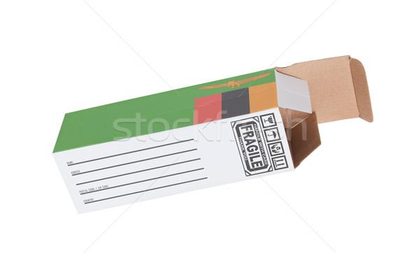 Exportar producto Zambia papel cuadro Foto stock © michaklootwijk