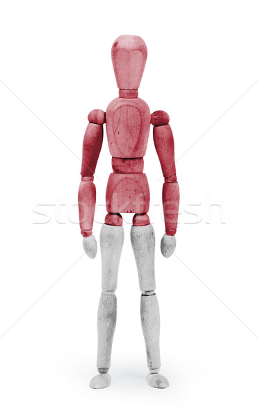 Wood figure mannequin with flag bodypaint - Indonesia Stock photo © michaklootwijk